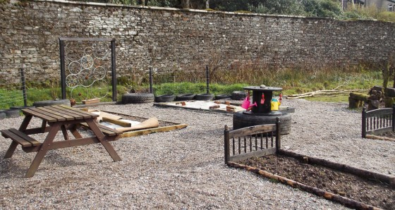 The imaginative Children's Garden takes shape.