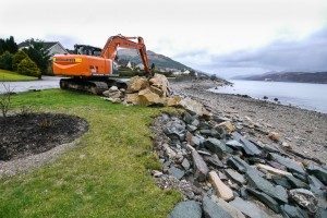 Seawall work begins earlier this year.
