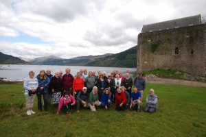 The walking group at Carrick Castle