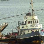 Historic Tug Golden Cross arrives off Ardentinny