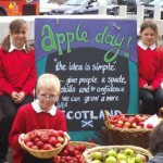 Getting the kids involved - Glenfinart apples at Scottish Parliament