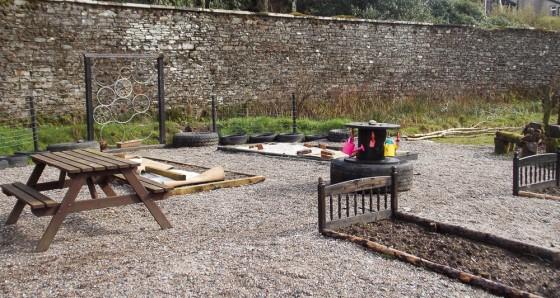 The imaginative Children's Garden takes shape.