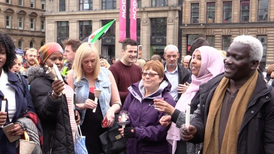Saturday's 'Glasgow Sees Syria' event in George Square.
