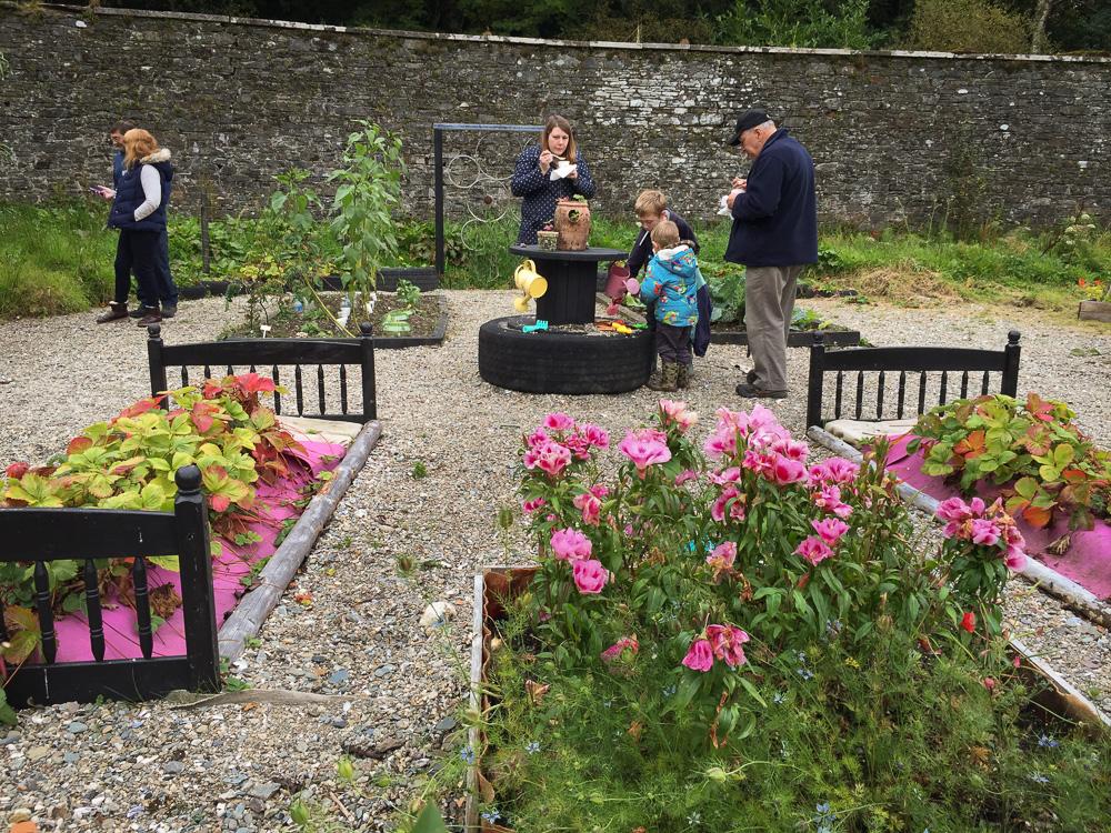Kids' Garden flower beds