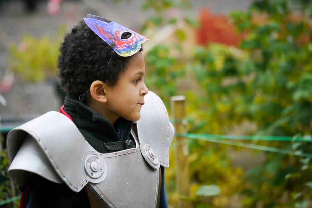 A young knight