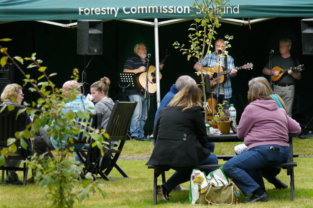 Musical entertainment in the orchard