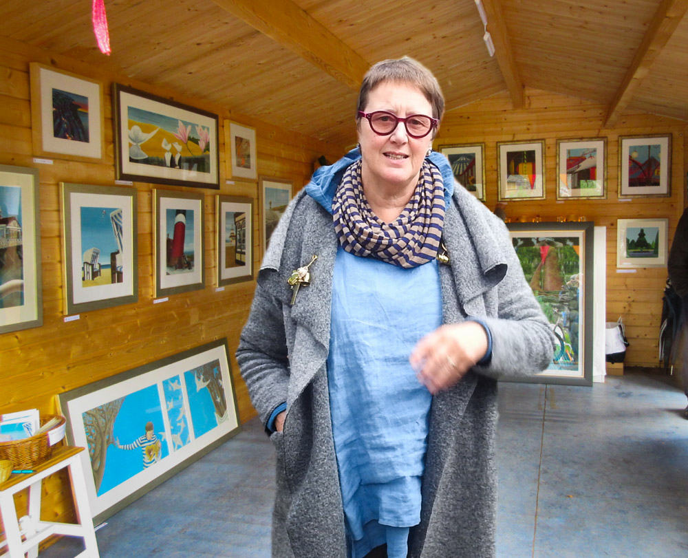 Cowal Open Studios artist draws record numbers in garden setting