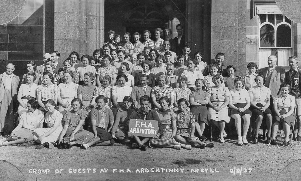 Friendship Holiday Association at Glenfinart House 1939
