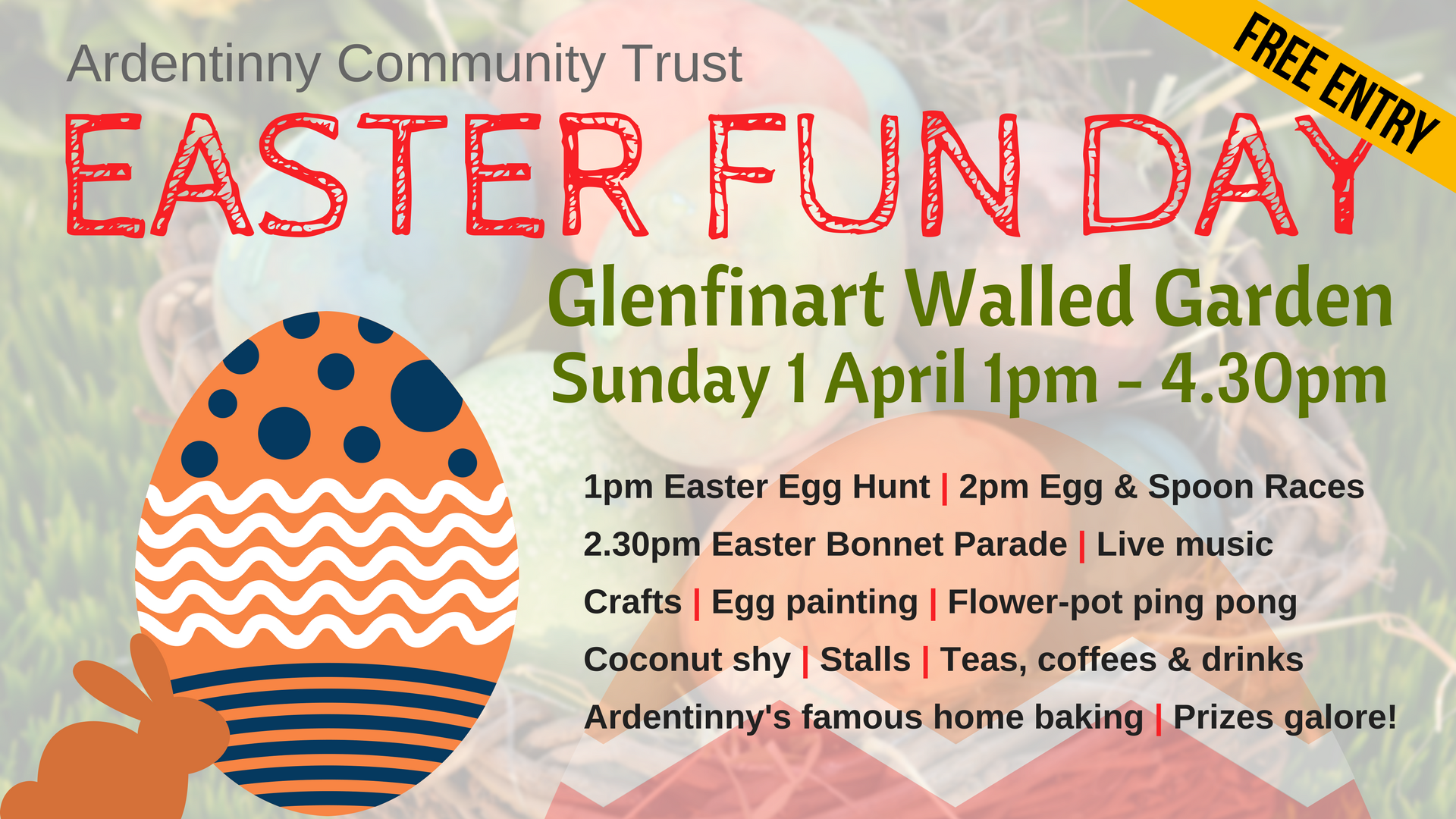 This Sunday - Easter Fun Day @ Glenfinart Walled Garden