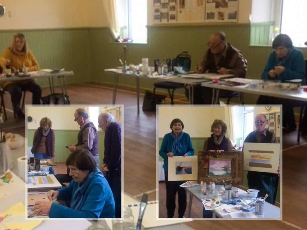 Watercolour course at Village Hall