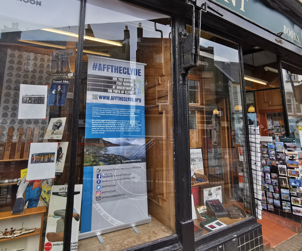 Dunoon bookshop supports AFFtheClyde