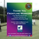 Free bowling membership for frontline workers